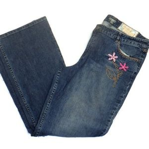 J Jill Embroidered Size 16 Straight Leg Stretch
